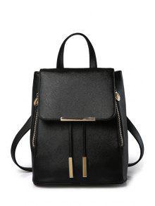 غطاء معدن بلون حقيبة - أسود