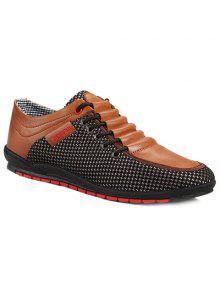 المألوف الربط و اللون كتلة تصميم أحذية عادية للرجال - 44