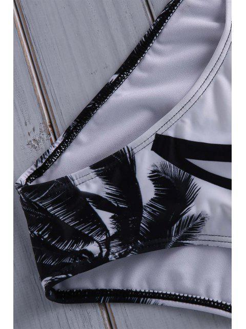 Maillot de bain une pièce camisole imprimé de cocotier - Multicolore XL Mobile