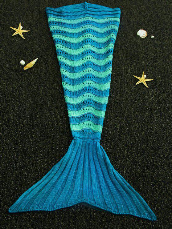 الحلو ضرب اللون محبوك بسط ذيل السمكة بطانية للأطفال - Colormix