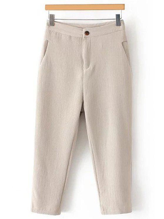 Plisadas rectas pernera del pantalón Capri - Blancuzco M