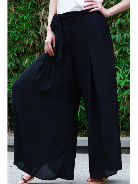 Jupe culotte à taille haute à lacets - Noir XL Mobile