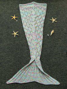 إنارينغ قطع أرجيل محبوك حورية البحر بطانية للأطفال