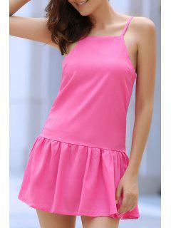 Cami Color Sólido Vestido De Las Colmenas - Rosa Xl