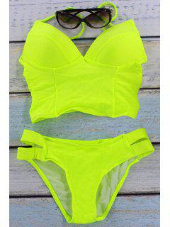 Neon Padded Two-Piece Swimsuit - Fluorescent Yellow S