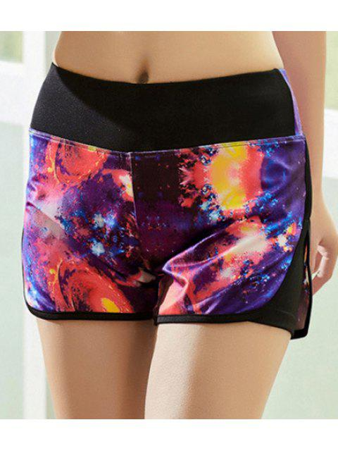 chic Colored Workout Shorts - COLORMIX L Mobile