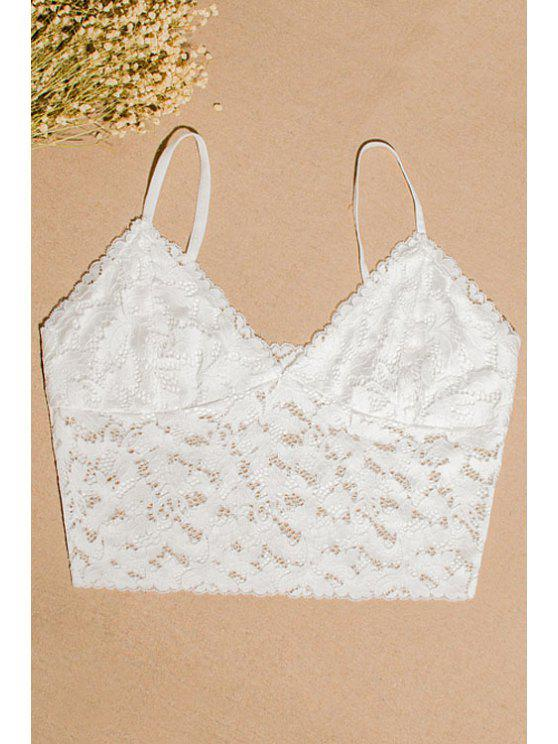 outfits Lace Cami Tube Top - WHITE L