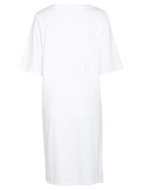 shop Number Print Round Neck Short Sleeves T-Shirt - WHITE ONE SIZE(FIT SIZE XS TO M) Mobile