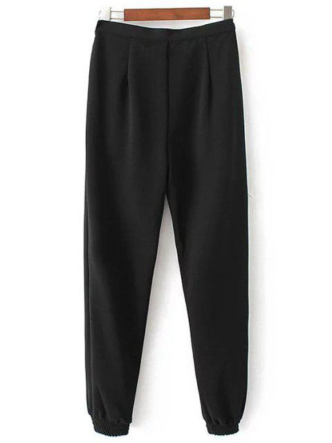 shops Solid Color Jogger Pants - BLACK M Mobile