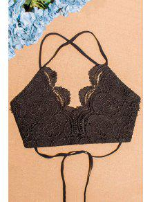 Buy Spaghetti Straps Lace Lace-Up Tube Top - BLACK L
