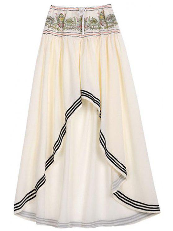 Alto Bajo con cordón de la falda del dobladillo - Blancuzco L