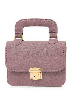 Chains Solid Color Push Lock Tote Bag - Purple