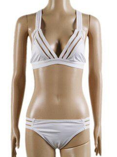 Panel De Malla Bikini Set - Blanco L
