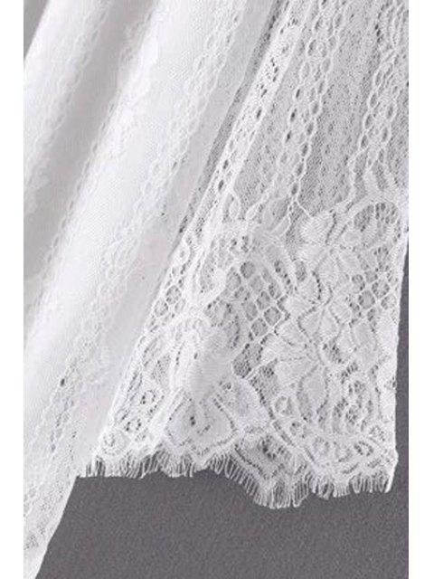 online Hollow Out Long Sleeve Lace Dress - BLACK S Mobile