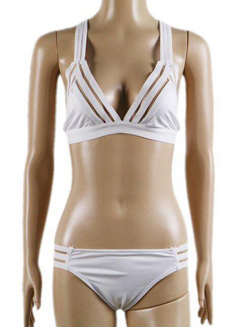 womens Mesh Panel Bathing Set - WHITE XL Mobile