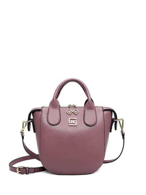 shop PU Leather Solid Color Tote Bag -   Mobile