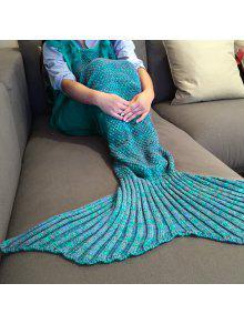 بطانية ميرميد بنوع مشد محبوك عالية الجودة - البحيرة الزرقاء