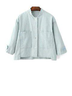 Big Pocket Denim Jacket - Bleu Clair M