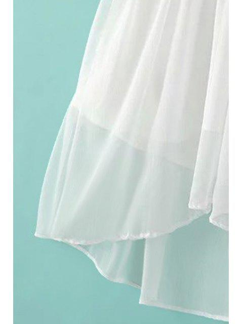 fashion Lantern Sleeve Mesh Dress and Cami Dress Twinset - PINK M Mobile