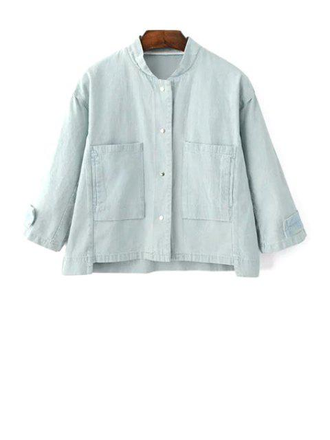 Big Pocket Denim Jacket - Bleu clair M Mobile