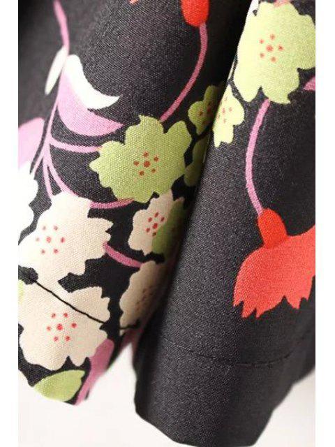 shop Cut-Out Printed Hip Pockets Playsuit - BLACK S Mobile