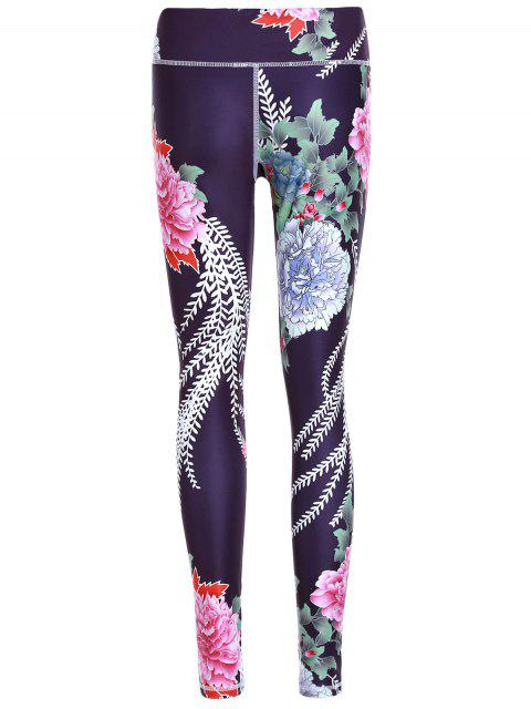 new Printed Exposed Seams Slim Pants - BLACK L Mobile