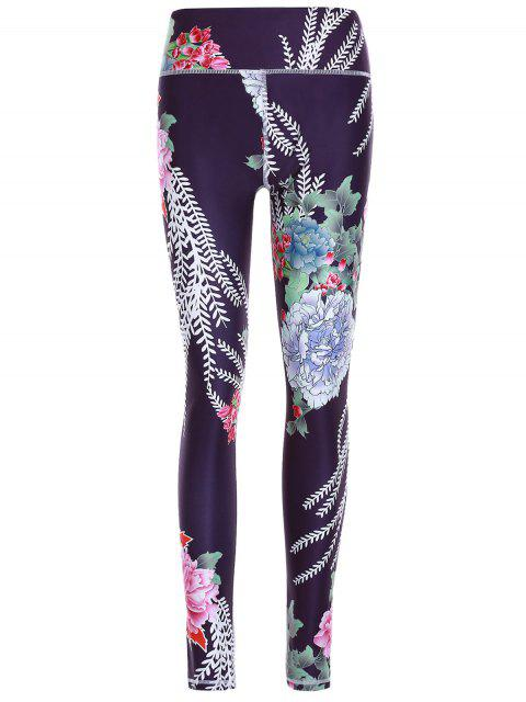 outfit Printed Exposed Seams Slim Pants - BLACK S Mobile