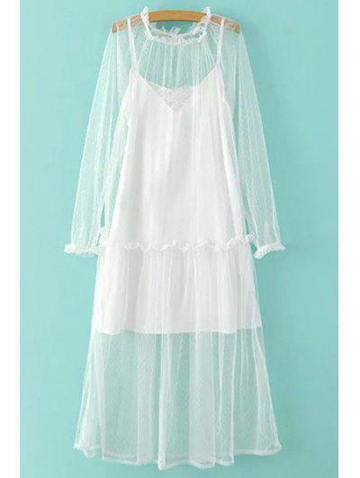 Sheer Mesh Dress and Cami Slip Dress Twinset