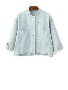 Big Pocket Denim Jacket - Light Blue S