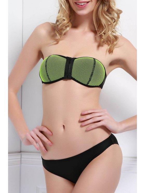 Zipper Mesh Bikini - Noir M