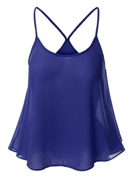 Color Caramelo gasa Cami - Azul Zafiro XL