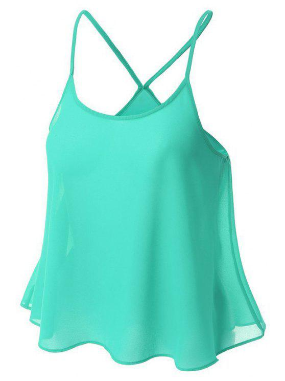 shops Candy-Colored Chiffon Cami Top - LIGHT GREEN L