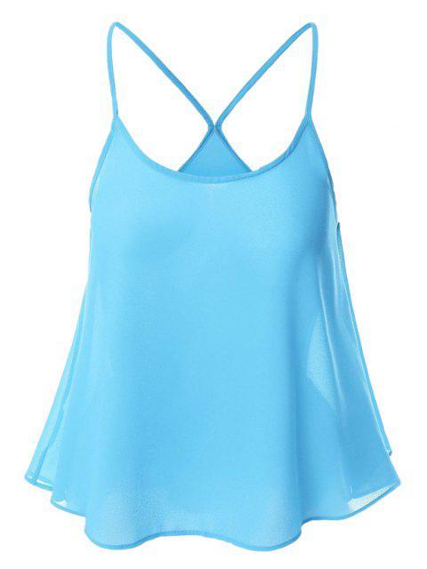 Süßigkeit-Farbige Chiffon- Cami-Spitze - azurblau  XL  Mobile