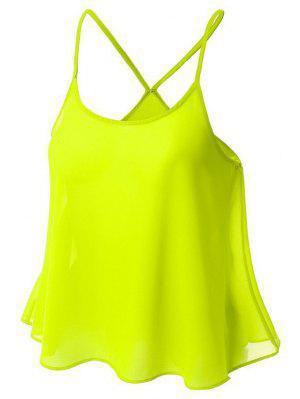 Candy-Colored Chiffon Cami Top - Yellow Xl