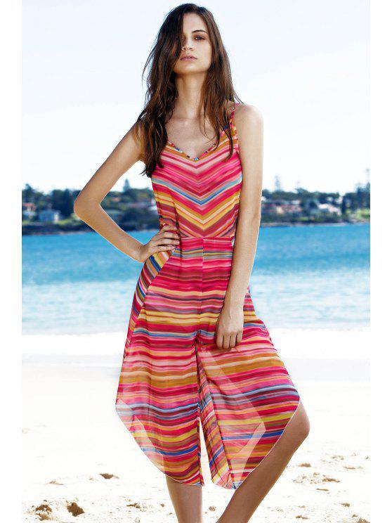 outfit Striped Colorful Playsuit - COLORMIX L