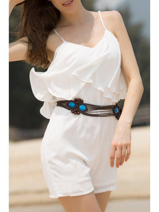 السباغيتي حزام الإنتفاض رومبير - أبيض L