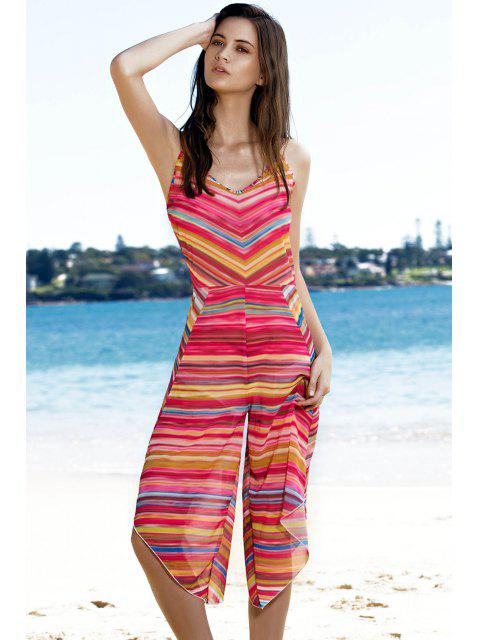 outfit Striped Colorful Playsuit - COLORMIX L Mobile