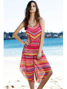Striped Colorful Playsuit - L