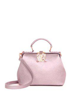 Sequins Rabbit Ear Solid Color Tote Bag - Pink