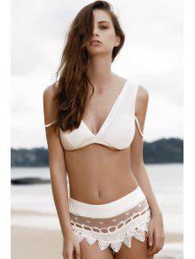 cami bikini set mit spitze splei wei bikinis xl zaful. Black Bedroom Furniture Sets. Home Design Ideas