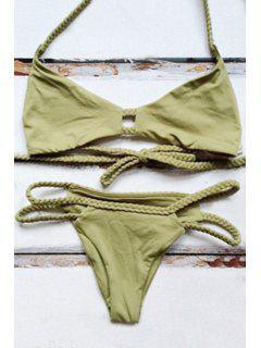 Halter Grün Braid Bikini Set - Grün Xl