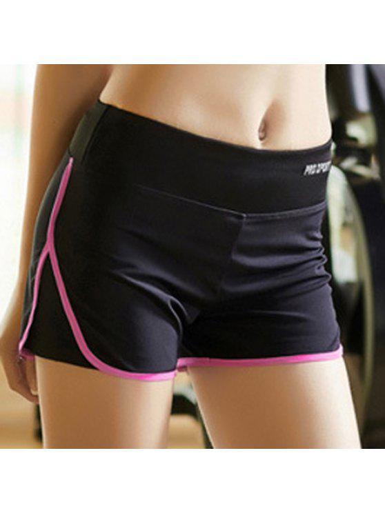 multicolore Shorts de sports Super-élastique et mince pour femmes - Rose M