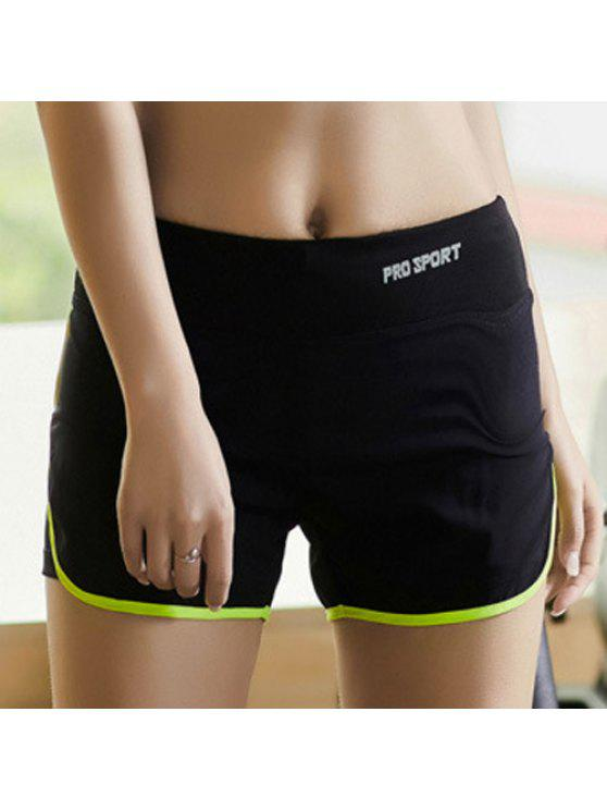 outfits Skinny Multicolor Super-Elastic Sport Shorts - NEON GREEN L