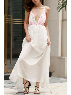 Spaghetti Strap Cami Maxi Dress - White L
