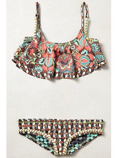 Bikini a motif digital avec bretelle spaghetti - Multicolore L Mobile