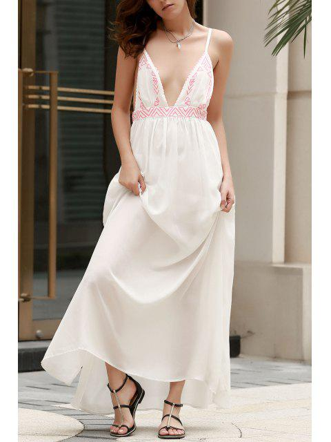 outfit Spaghetti Strap Cami Maxi Dress - WHITE L Mobile
