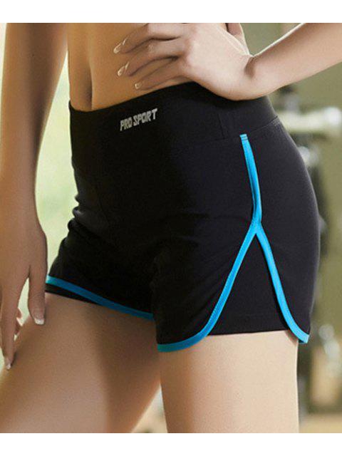 ladies Skinny Multicolor Super-Elastic Sport Shorts -   Mobile