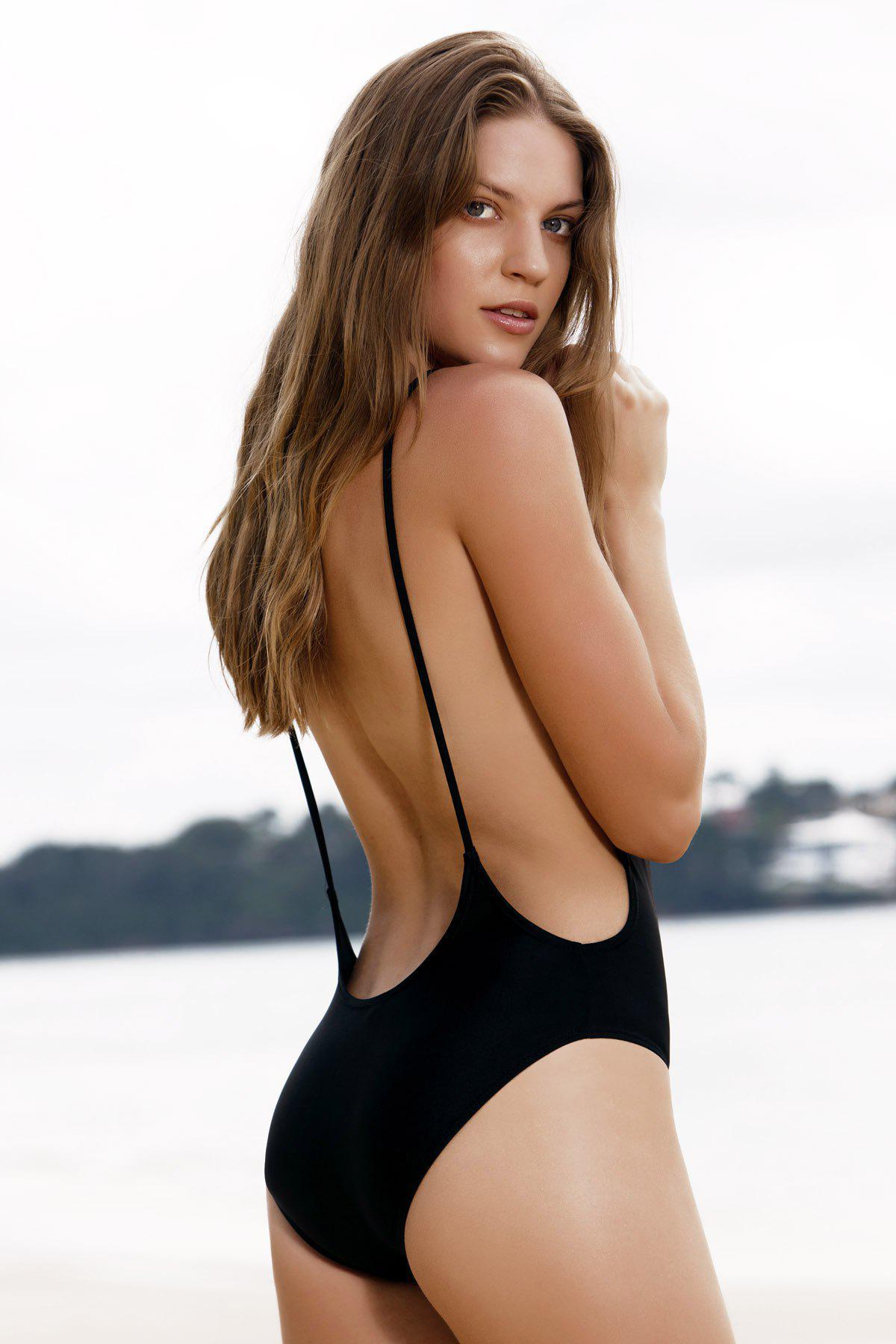 Monokini High Cut Backless One-Piece Swimwear