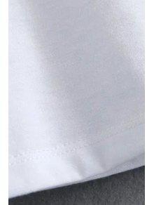 De La S Cuello Blanco Estrella Corta Del Redondo De Bordado Manga Camiseta Manga La qBvwOSzz