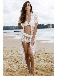 Tassels White Long Cover-Up - White M